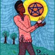 Tarot Of The Younger Self Page Of Pentacles Art Print