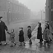Teacher And Pupils In Manchester Art Print
