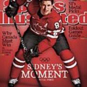 Team Canada Sidney Crosby, 2010 Vancouver Olympic Games Sports Illustrated Cover Art Print