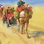 Ten Thousand Mile Motor Race Camel Train Art Print