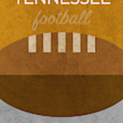 Tennessee Football Minimalist Retro Sports Poster Series 004 Art Print
