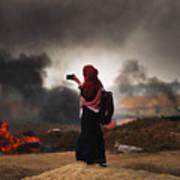 Tensions In Gaza Remain High Art Print