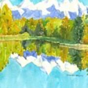 Teton Impressions Art Print