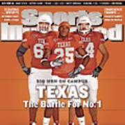 Texas Jamaal Charles, Justin Blalock, And Kasey Studdard Sports Illustrated Cover Art Print