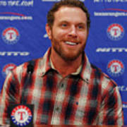 Texas Rangers Introduce Josh Hamilton Art Print