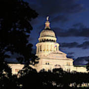 Texas State Capital Dawn Panorama Art Print