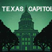 Texas State Capitol Art Print
