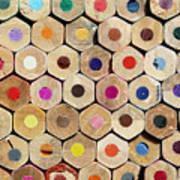 Texture Of Colored Pencils Art Print