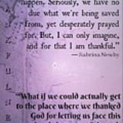 Thankful 34566 Art Print
