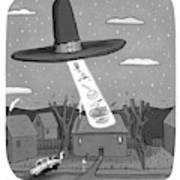 Thanksgiving Aliens Art Print