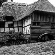 Thatched Watermill 2 Art Print
