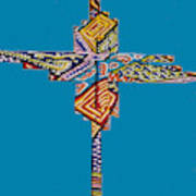 The Abstract Cross Art Print