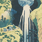 The Amida Waterfall In The Province Of Kiso  Art Print