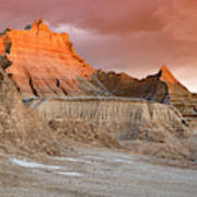 The Badlands With Another Sunrise Art Print