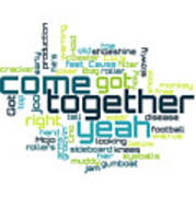 The Beatles - Come Together Lyrical Cloud Art Print