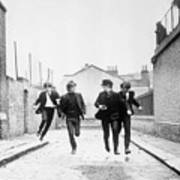 The Beatles Running In A Hard Days Night Art Print