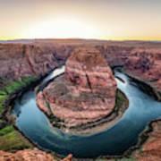 The Bend - Horseshoe Bend At Sunset In Arizona Art Print