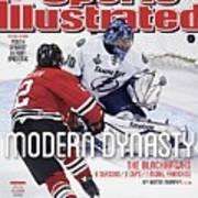 The Blackhawks, Modern Dynasty 6 Seasons, 3 Cups, 1 Model Sports Illustrated Cover Art Print