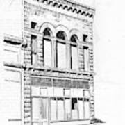 The Capital Transfer And Sands Brothers Building Helena Montana Art Print