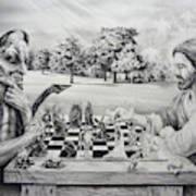 The Chess Game Art Print