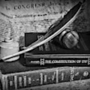 The Constitutional Lawyer In Black And White Art Print