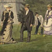The Croquet Game Art Print