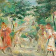 The Croquet Party Girls In The Garden Art Print
