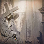 The Crosses We Bear Prazeres Historic Cemetery Lisbon Portugal Art Print