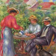 The Cup Of Tea, Or The Garden Art Print
