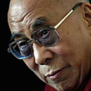 The Dalai Lama Visits The Uk Art Print