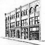 The Denver Block Helena Montana Art Print