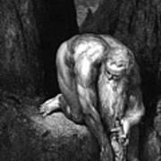 The Divine Comedy, By Dante The Giant Antaeus Art Print