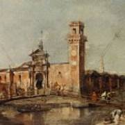 The Entrance To The Arsenal In Venice  Art Print