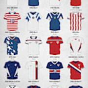 The Evolution Of The Us World Cup Soccer Jersey Art Print