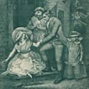 The Fair Penitent Laetitia In Penitence Art Print