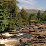 The Falls Of Dochart And Bridge At Killin In Scottish Highlands Art Print