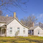 The Farmhouse, Washhouse And Garage Art Print