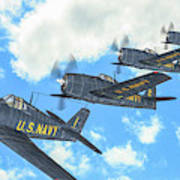 The First Blue Angels - Oil Art Print