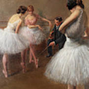The First Pose, The Ballet Lesson Art Print