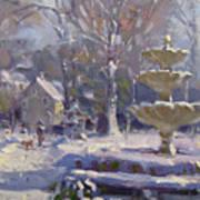 The Frozen Fountain Art Print