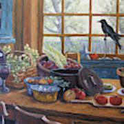 The Good Harvest Country Kitchen By Richard Pranke Art Print