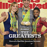 The Greatests Ledecky  Phelps  Biles Sports Illustrated Cover Art Print