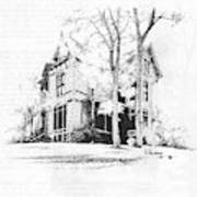 The Hauser Mansion, Helena, Montana Art Print