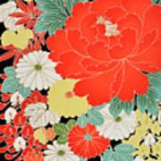 The Japanese Kimono, Close Art Print