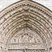 The Judgement Portal Of Notre Dame De Paris Art Print