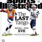 The Last Tango Manning Vs Brady Xvii Sports Illustrated Cover Art Print