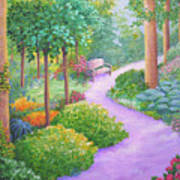The Lilac Path - Rest Awhile Art Print