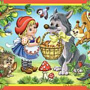 The Little Red Riding Hood Art Print