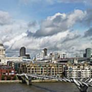 The London Skyline Towards St Pauls Art Print