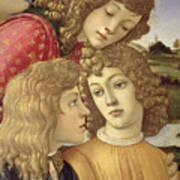 The Madonna Of The Magnificat, Detail Of Three Boys, 1482 Art Print